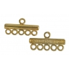 Gold-plated Coupling Bar 5 Strand Base SS.925
